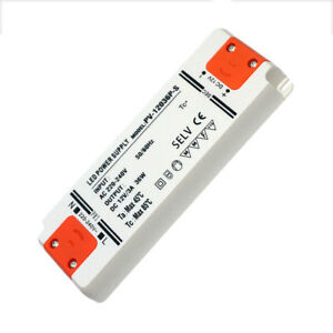official photos 7e979 c6643 Details about Ultra Thin LED DC12V Power Supply Driver 36W LED Transformer  LED Strip UK Light