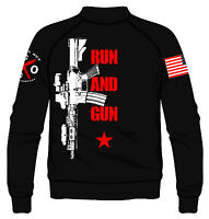 Run And Gun Fleece Jacket I Knives Out I Veteran I Military I Patriot I American