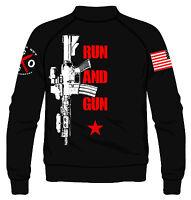Run And Gun Fleece Jacket I Knives Out I Veteran I Military I Patriot I American
