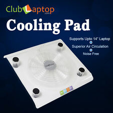 Clublaptop USB Powered Cooling Pad For Laptop Netbook Stand Cooler-Big Fan White