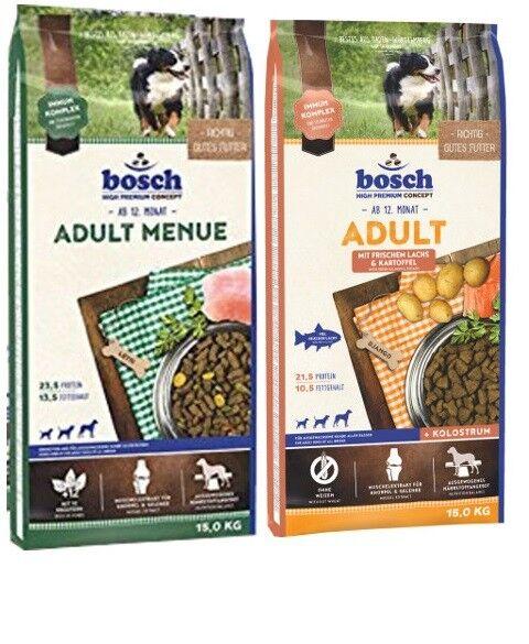 15kg Bosch Adult Menue + 15kg Bosch Adult Lachs & Kartoffel Hundefutter