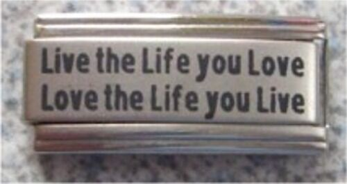 Italian Charms  DB1 Superlink Live The Life You Love Fits Classic Size Bracelet