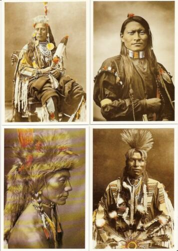 LOT 20 CARTES INDIENS AMERIQUE GERONIMO SITTING BULL TIPI CHEYENNES CROW SIOUX