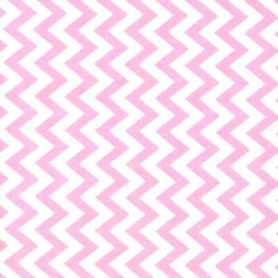 Cerise White Classic Chevron Stripe 100/% Cotton Zig Zag Fabric  Patchwork