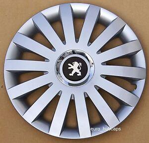 "set of 4 14"" wheel trims, hub caps, covers to peugeot 206"