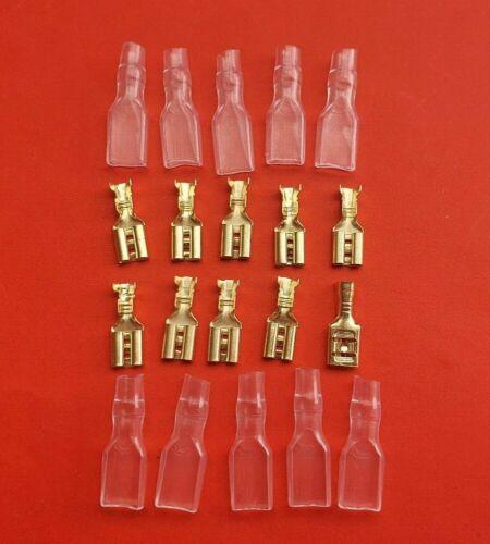 Flachstecker 4,8mm  Kabelschuhe Stecker 0,5mm²-1,5 mm² Isoliert Kabelschuh G