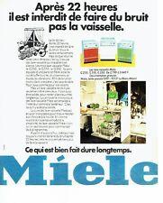 Publicité Advertising 037  1975  le lave vaisselle Miele