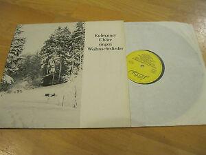 Chöre Singen Weihnachtslieder.Details Zu Lp Kulmainer Chöre Singen Weihnachtslieder Oberpfalz Vinyl Lorby Obi 1282 Rar
