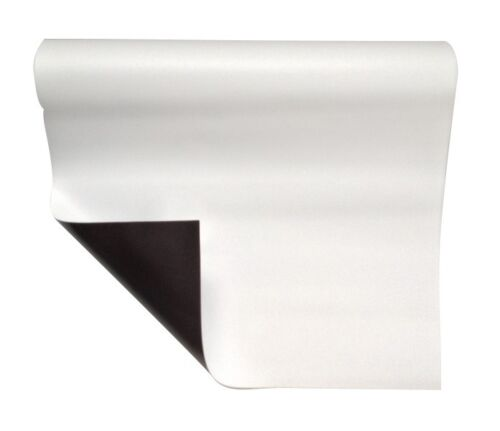 Magnetfolie weiß matt beschichtet 0,6mm x  20cm x  50cm