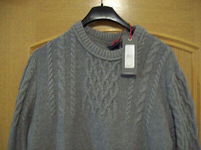 Mustang Heavy Knit Jumper Pullover Uomo In Grey, Tg: Xl-mostra Il Titolo Originale Prendiamo I Clienti Come Nostri Dei