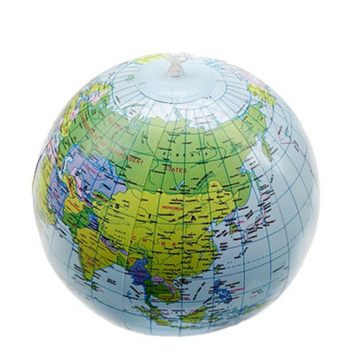 40cm Kids Peculiar Ball Child Toy Earth Map Inflatable World Globe Geography Aid