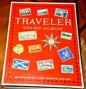 CatalinaStamps:  1978 Harris Traveler Stamp Album with 1050 Stamps, D365