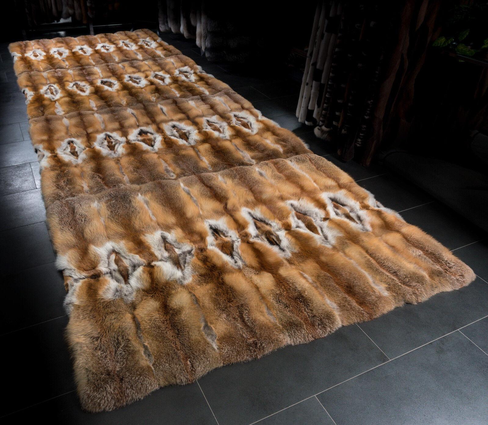 2517 Large Fur Carpet from European rot Foxes Fur Lars Lars Lars Paustian Genuine Fur Rug 57483c