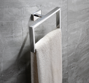 Luxury-Bathroom-Wall-Stainless-Steel-Square-Towel-Ring-Holder-Rack-Holder-Chrome