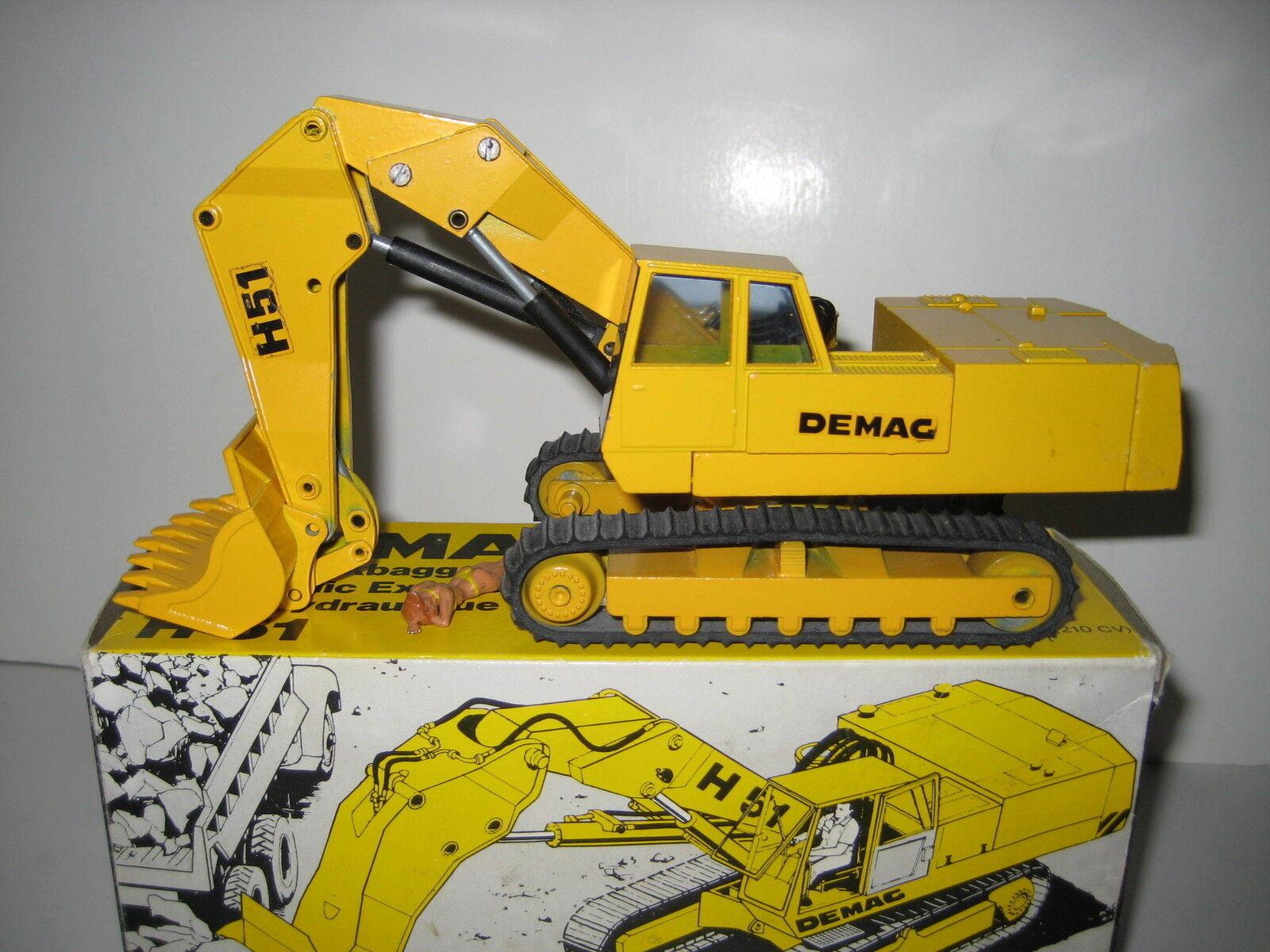 DEMAG H 51 Excavateurs hochlöffel à chenilles noires Décalques  113.3 NZG 1 50 neuf dans sa boîte