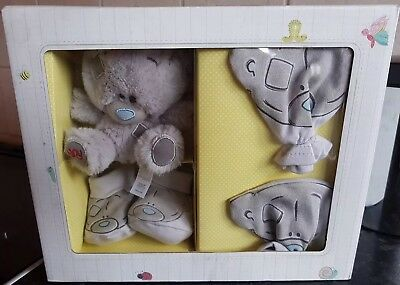 Carte Blanche Me To You Tiny Tatty Teddy Mittens, Booties & Plush Set - New