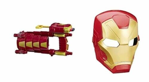Marvel Captain America Civil War Iron Man Tech FX Mask /& Blast Slide Super Hero