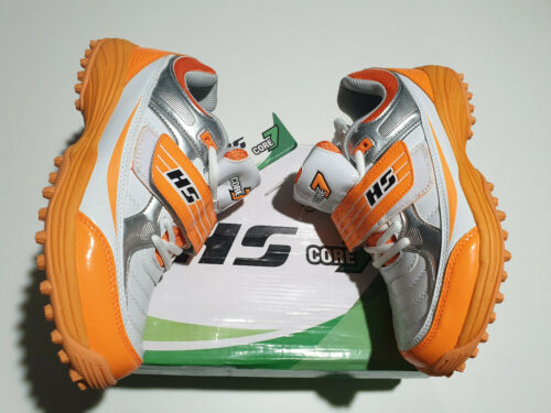 BOWLING FIELDING SIZE 8 UK HS CORE 7 PREMIUM CRICKET SHOES ORANGE BATTING
