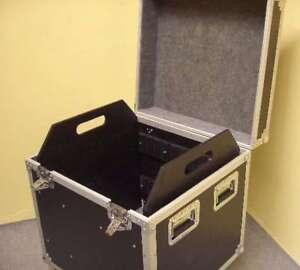 Tourcase 64 x 60 x 77cm schwarz Transportcase Hardwarecase Transportkiste Rollen