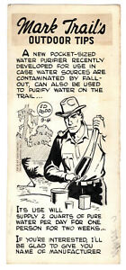 Mark Trail Original Art By Ed Dodd Outdoor Tips- purifying water