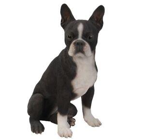 "Ebros Large Lifelike Adorable Boston Terrier Dog Statue 16/"" Tall Fine Figurine"