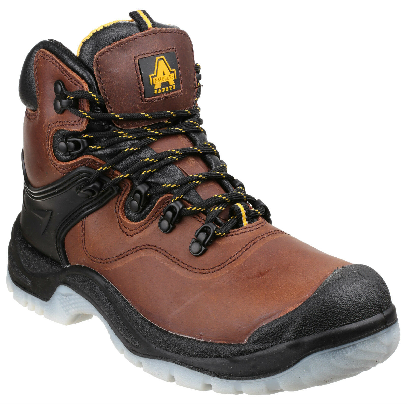 Amblers FS197 Waterproof Safety Boots Mens Brown Steel Toe Cap shoes UK4-14