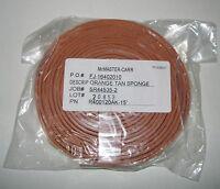 15' Mcmaster Carr Extreme Temperature Silicone Foam Orange Tan Sponge 5109k34