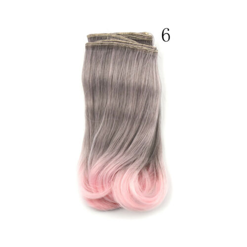 15cm diy curly doll wigs High Temperature Wire doll hair for 1//3 1//4 1//6 YEwr