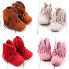 Infant Newborn Baby Girl Soft Sole Boots Toddler Tassel Moccasin Crib Shoes Lot