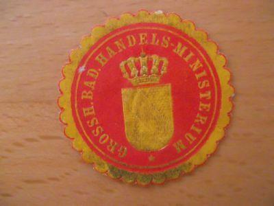 (11612) Siegelmarke - Grossh. Bad. Handelsministerium