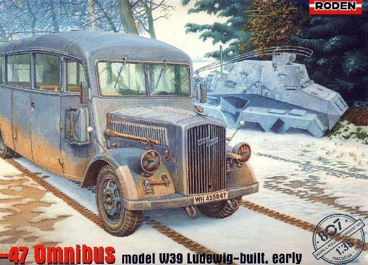 Roden Opel Blitz 3.6-47 Omnibus W39 Ludewig Modèle-kit 1 3 5 Front de L'Est