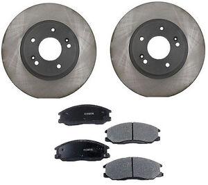For Honda Accord 95-97 V6 2.7L Front Disc Brake Pads Rotors Shims Hardware Kit