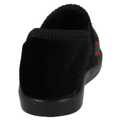 Spot on 'Anthony' Jungen schwarz mit Streifen Pantoffeln