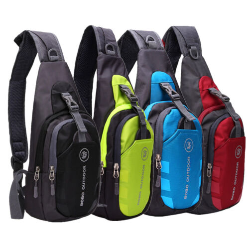 Mens Sling Bag Chest Cycle Travel Sports Backpack Shoulder Crossbody Bag Purse A