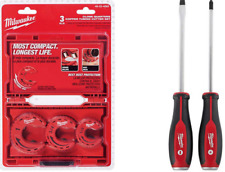 Plumbing Hand Tools Tubing Cutter Set 3 Piece Demo Screwdriver Drivers Steel Cap