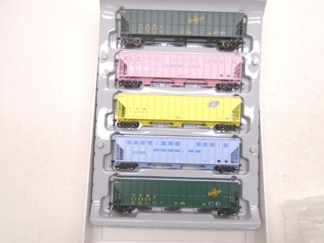 Athearn Ho 92787 54' FMC Hopper car set of 5, C&NW, x14