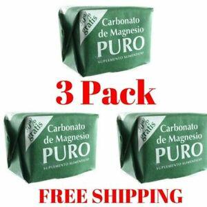 3 PACK Carbonato de Magnesio PURO Coqui 3 BLOCKS Magnesium Carbonate FREE SHIP