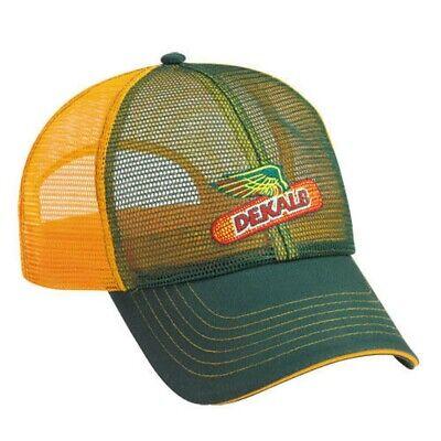 DEKALB SEED Tan Winter Ear Muff Vintage Trademark Logo Cap Hat New Ballcap Corn