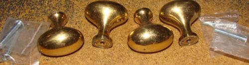 Set of 4 VINTAGE solid brass cabinet or drawer pull//handles NOS