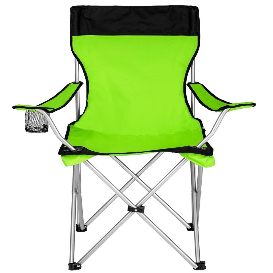 6 Campingstole enkelt grøn