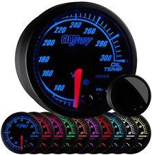 52mm GlowShift Black Elite 10 Color Oil Temperature Temp Gauge - GS-ET07