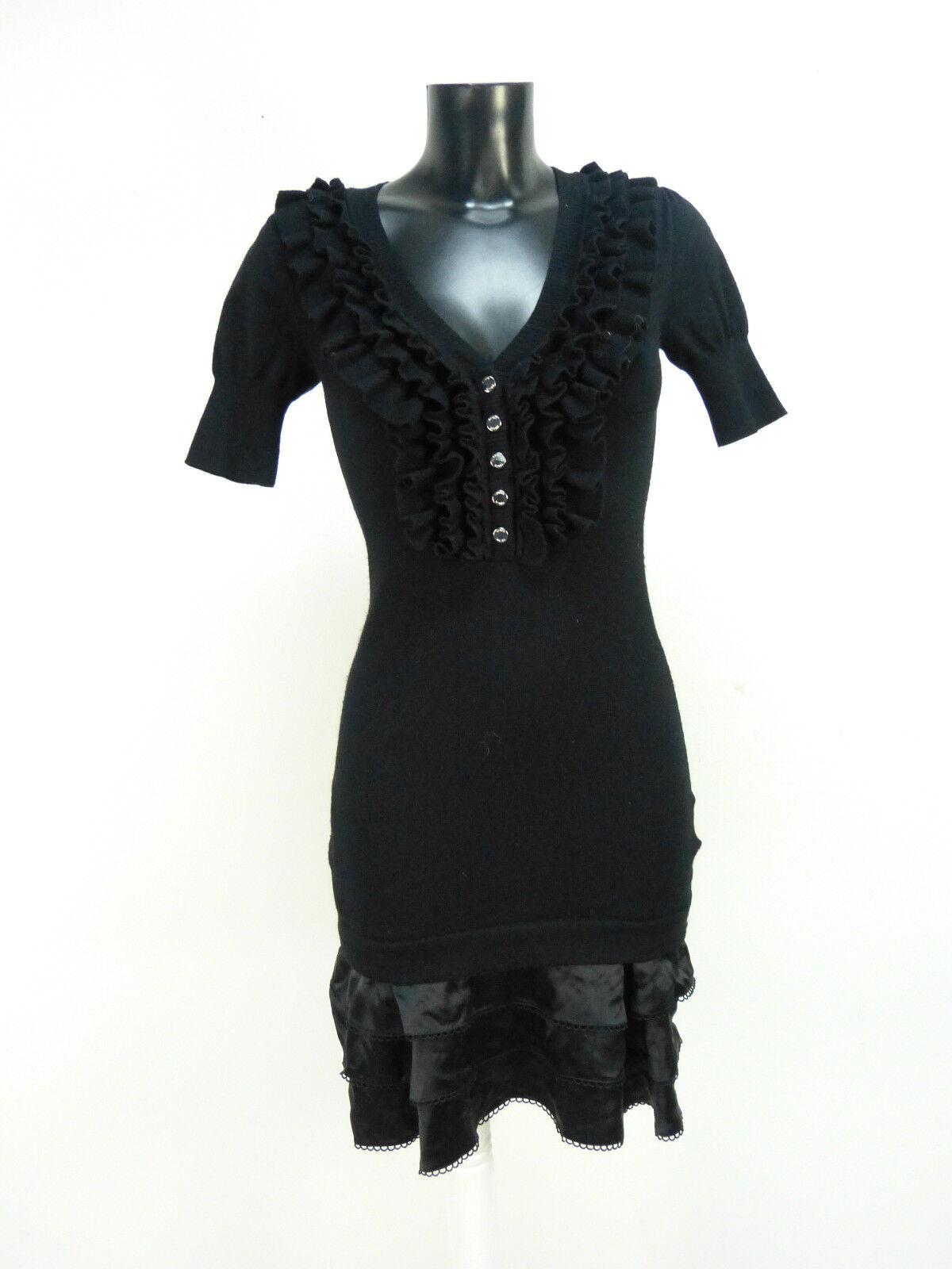 Karen Millen Vestito Taglia S Nero & come nuovo-lusso allo stato puro (N 6665)