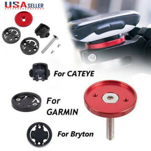 MTB-Cycling-Bike-Bicycle-Stem-Top-Cap-Computer-Mount-Holder-For-Garmin-Bryton