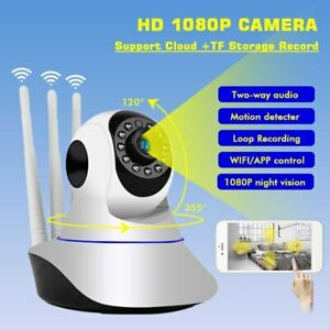 TELECAMERA-1080P-HD-WIRELESS-INTERNA-IP-CAMERA-MOTORIZZATA-IR-INFRAROSSI-WIFI
