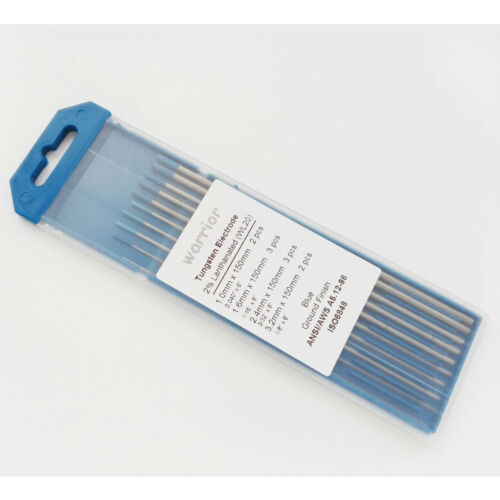 """6/"""" 2/% Lanthanated WL20 Tungsten Electrodes Comsumables Mixed kit For TIG Welding"""