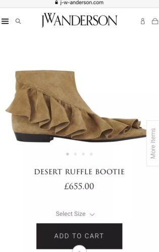 40 Rrp 7 Boots Jw Ankle Suede Eu taglia 655 Uk Esaurito Ruffled £ Anderson qHwgH8U