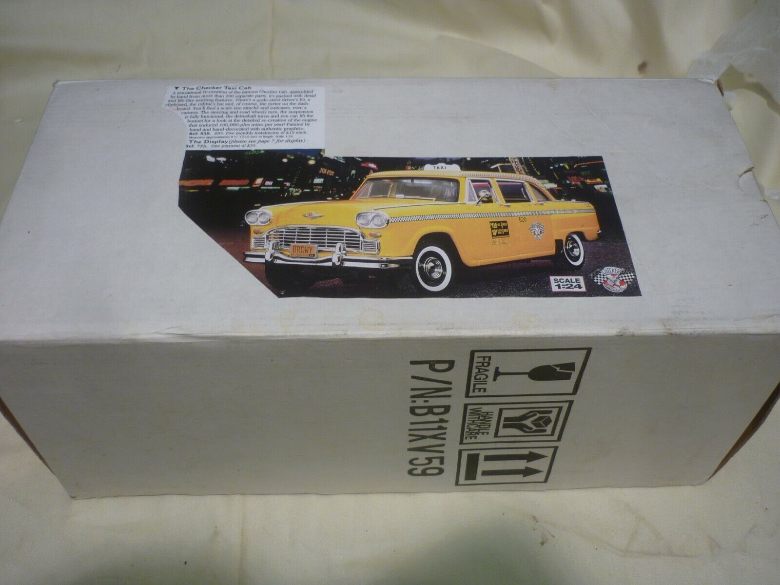 Une occasion FRANKLIN Comme neuf Chequer Taxi, Boxed, papiers, suite cas