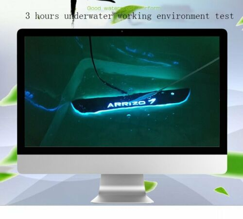 For Grand Cherokee 2011-2016 4*LED Blue Moving Door Sill Scuff Plate Protector