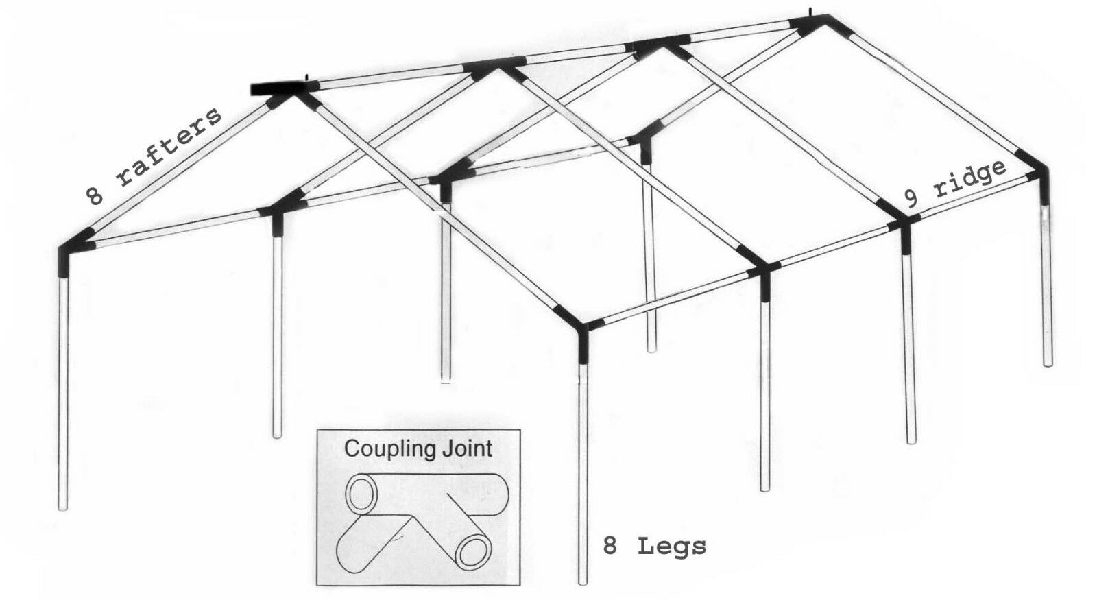 10x30 party tent frame only