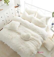 Winter Fur Warm Soft Princess Duvet Cover Bedding Set High Quality 3/8Pcs UPS